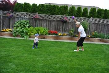 Playing catch with Gigi