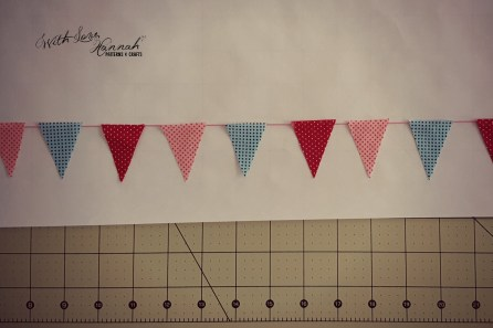 Make a doll-sized, mini bunting