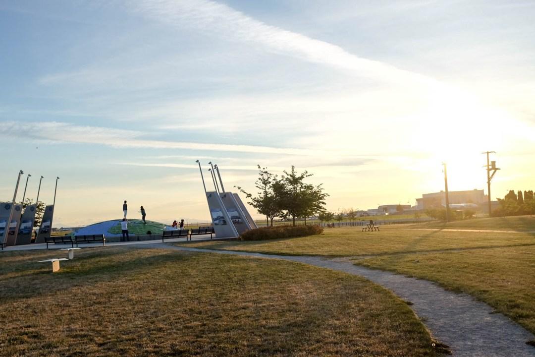 Golden Hour in Larry Berg Flight Path Park