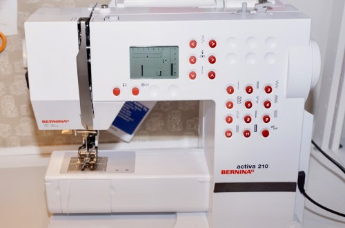 My sewing machine: Bernina activa 210