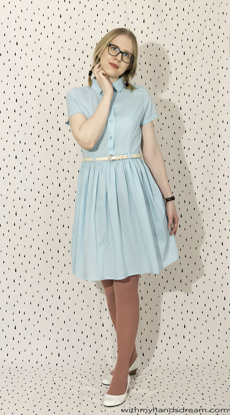 Pauline Alice Cami dress sewn of Cotton Lawn from Atelier Brunette.