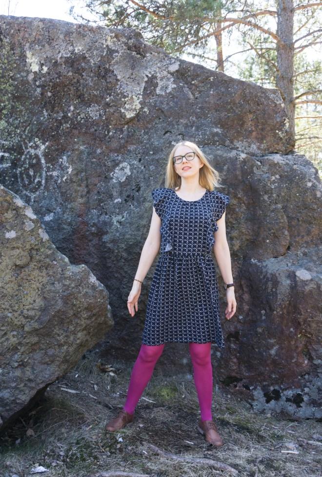 Lekala pattern #4279 viscose dress.