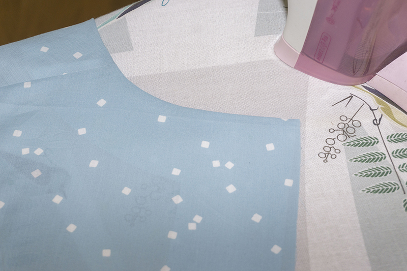 Understitching tutorial: result, right side.