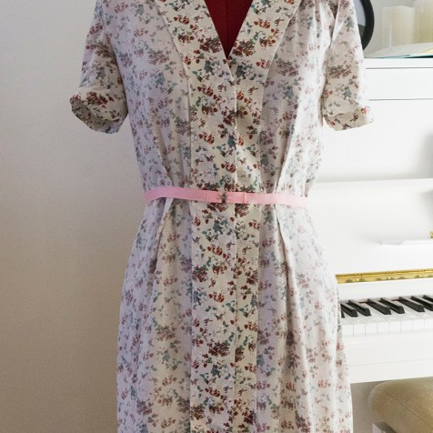 Sew Over It vintage shirtdress from the wrong side.