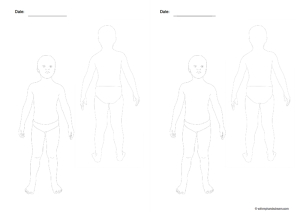 Fashion croquis template, child's body