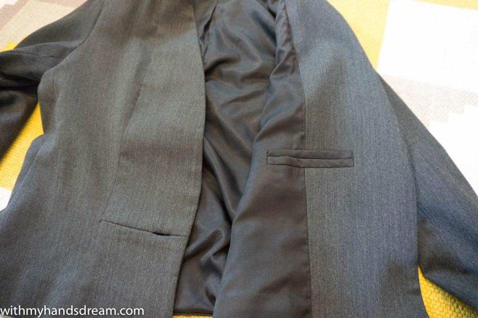 Burda 08/2013 106A, inner breast pocket detail
