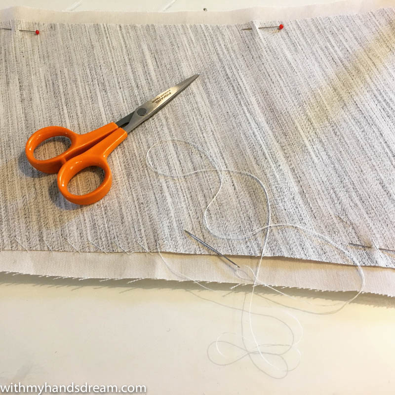 Image: Catch stitching the interfacing