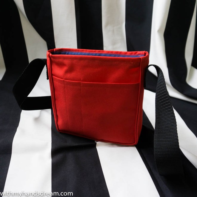 Image: Red bag open