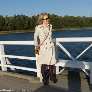 Image: My trench coat at the bridge.