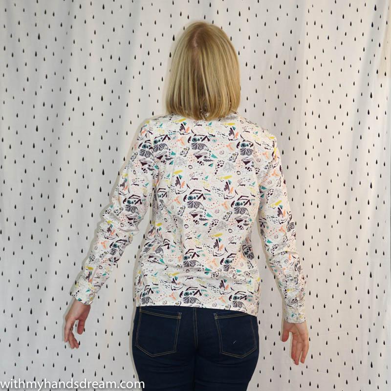 Image: Named clothing Quinn shirt, back view.