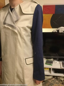 Image: Trench coat sleeve toile.