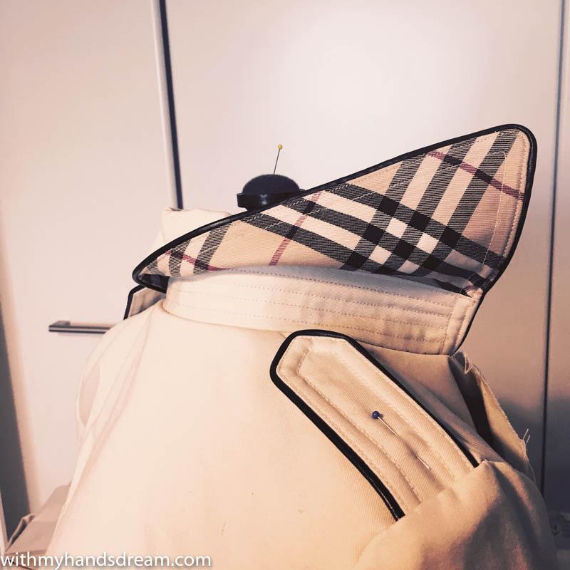 Image: Trench coat collar