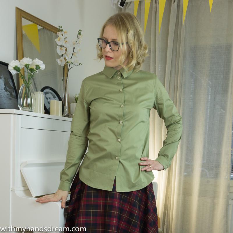 My sage green Granville Mélilot shirt combo.