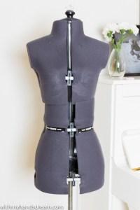 The Adjustoform dress form.