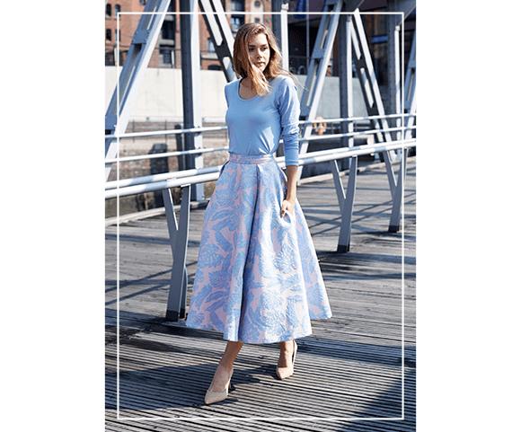 Marble Lake Romantic City Girl Look. Image from myfabrics.co.uk.