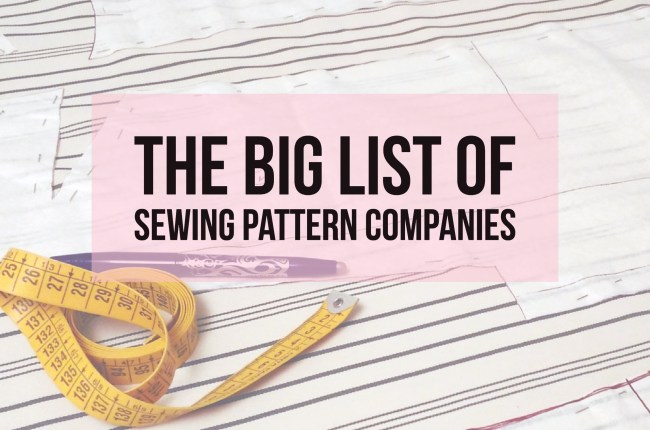 big-list-sewing-pattern-companies