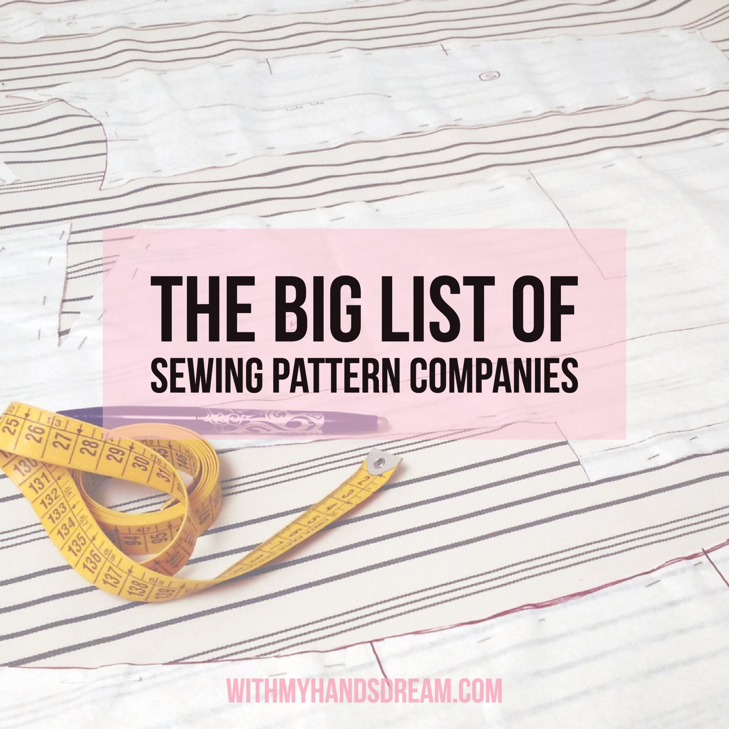 Click to view my collected list of sewing pattern companies.