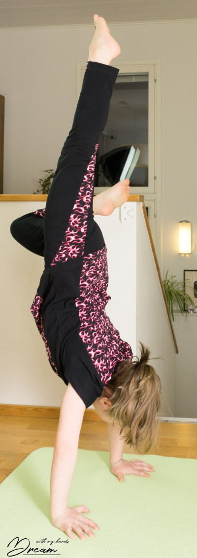Practicing for handstands.