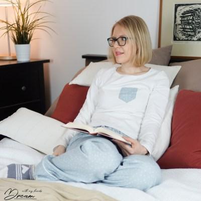 Me in my cozy new pyjamas.