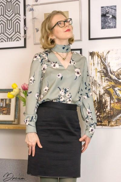 The finished Orageuse Prague blouse.
