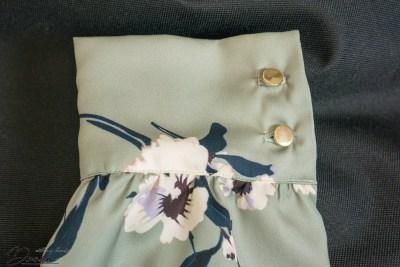 Orageuse, Prague blouse: the cuff detail.