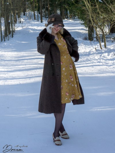 My Harris tweed coat.
