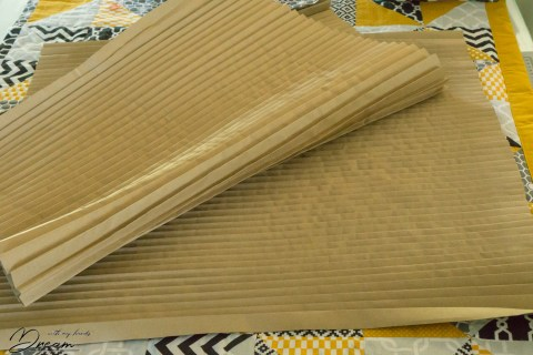 Pleating boards for plissé techinique.