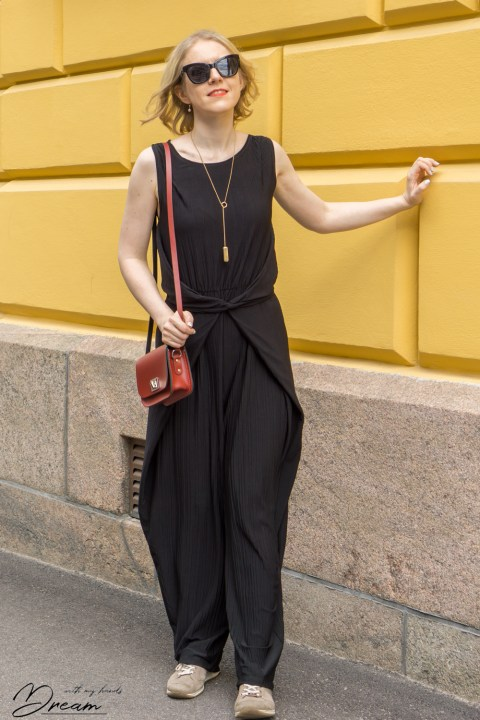 Kielo jumpsuit from the front.
