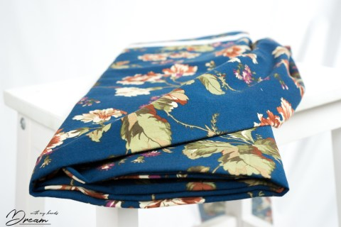 Autumn fabrics: Floral cotton.