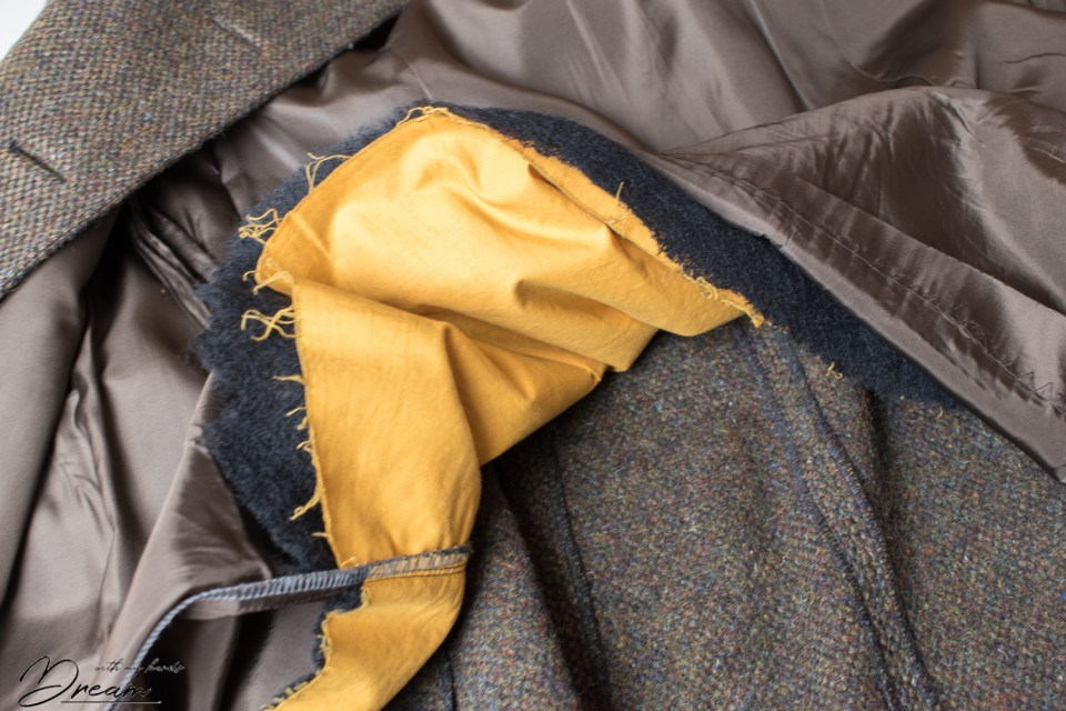 The insides of my tailor-made vintage coat.