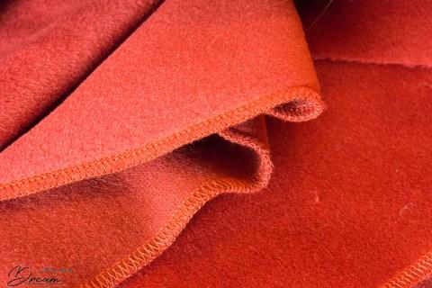 Serged edges of my wool.