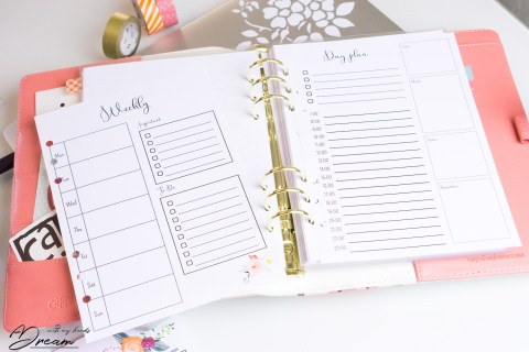 Sewist's planner 2019 - Daily and Weekly pages.