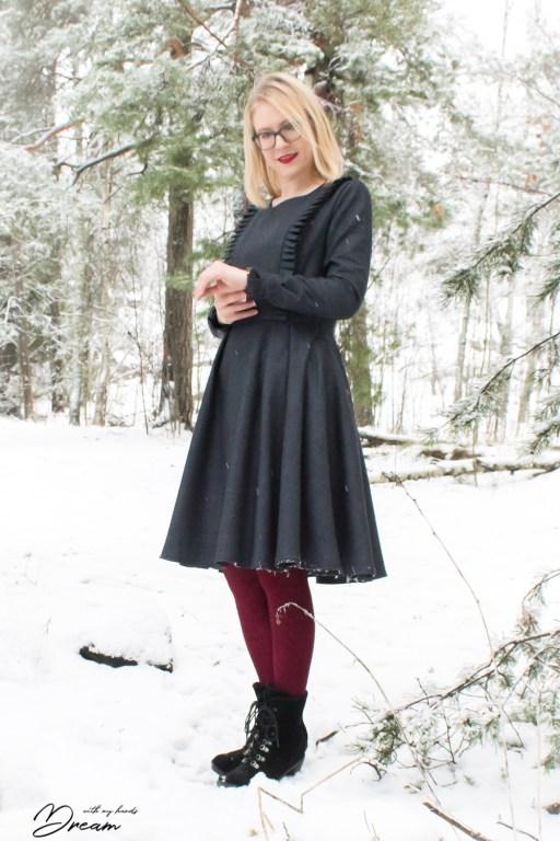 My wool dress sleeve details.