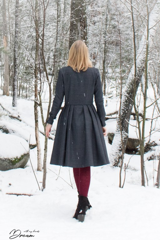My wool dress from the back.