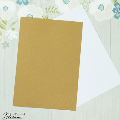 The faux leather paper prepared for ink jet printing.