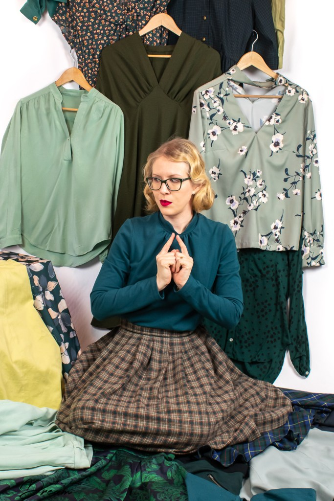 Green is my favourite colour, so it's no wonder I ended up with this many green garments.