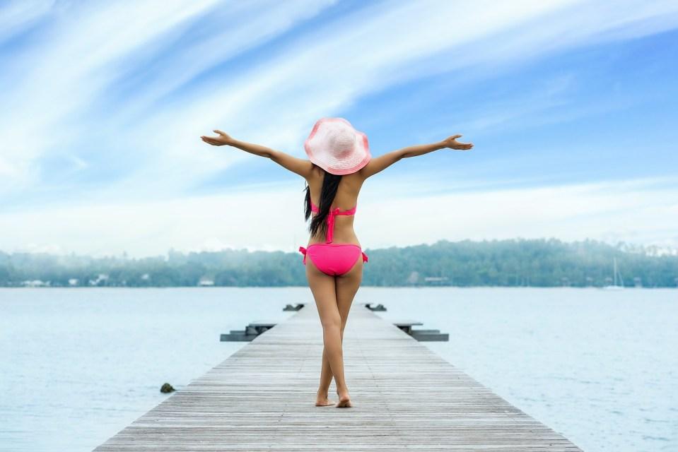 Bikini-woman, stock photo.