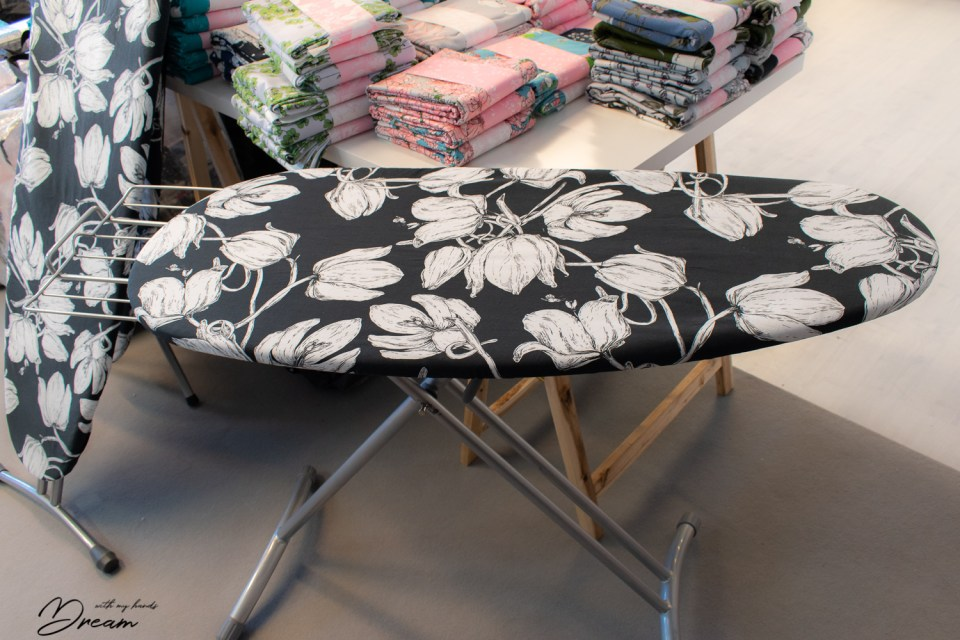 Here is one of the refashioned ironing boards waiting for the Ommel festival.