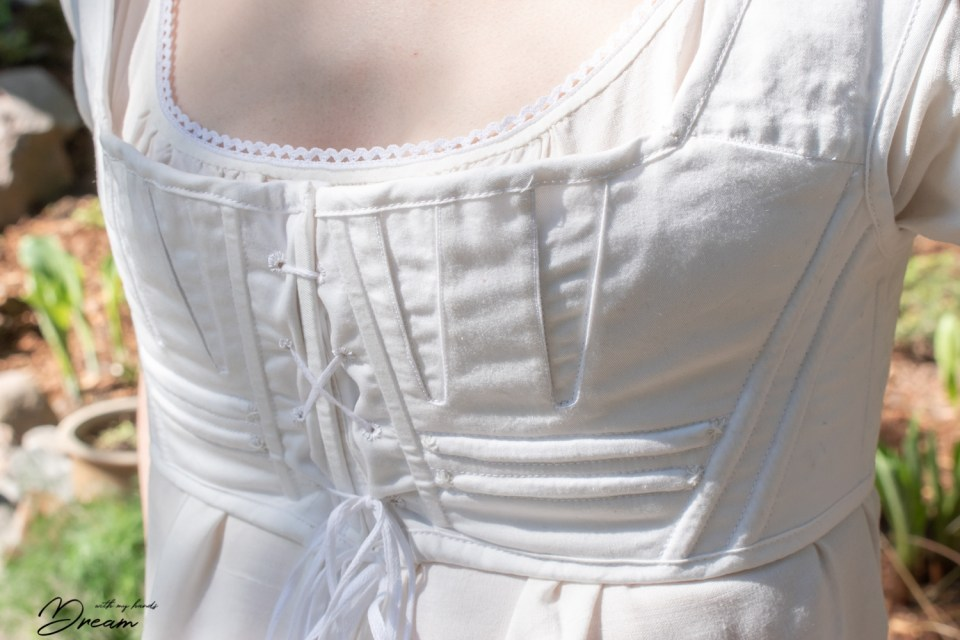 The front of the Regency underthings stays by Sense & Sensibility patterns.
