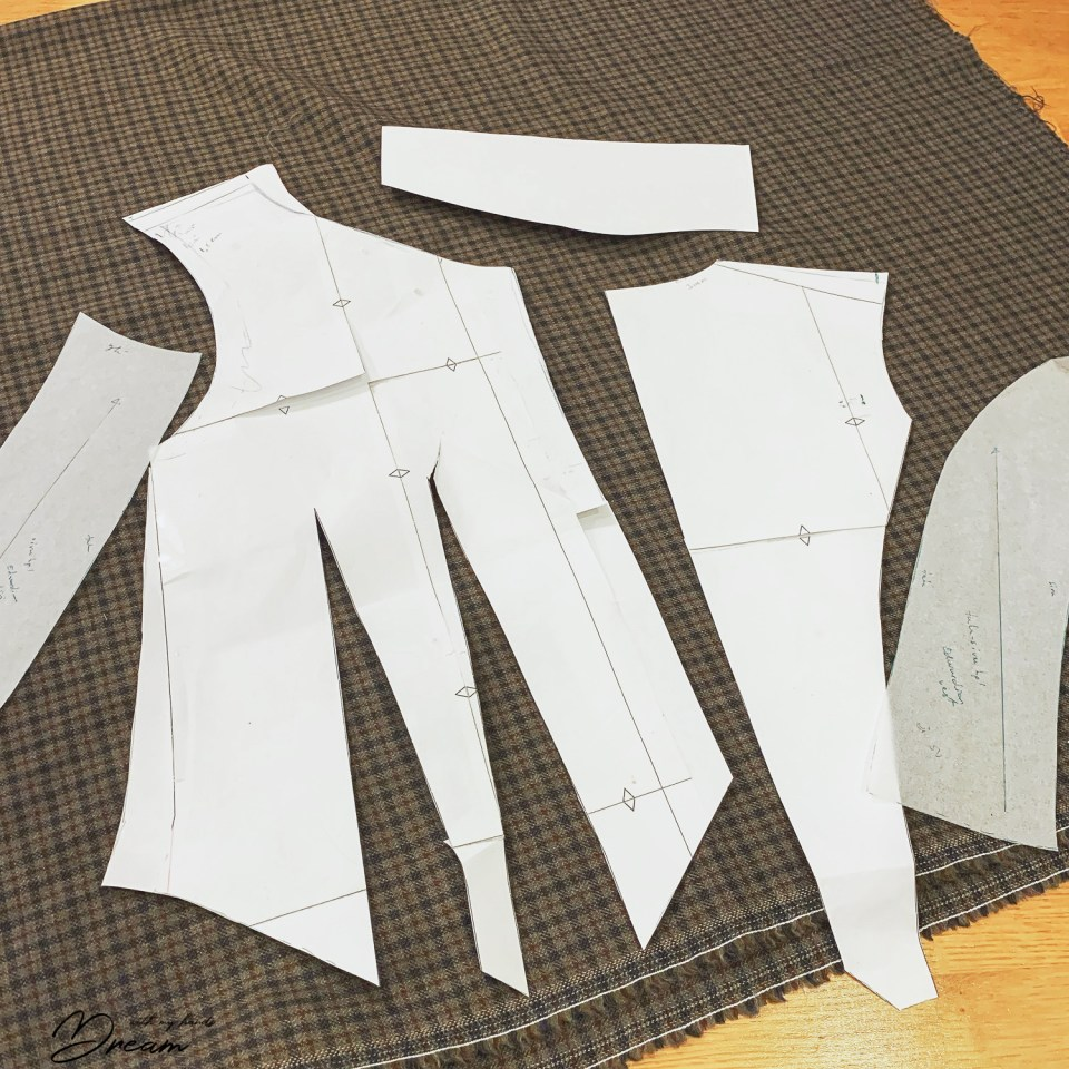 My waistcoat pattern pieces.