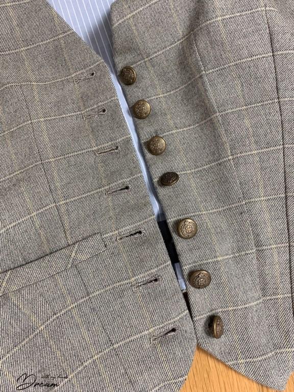 Waistcoat buttons.