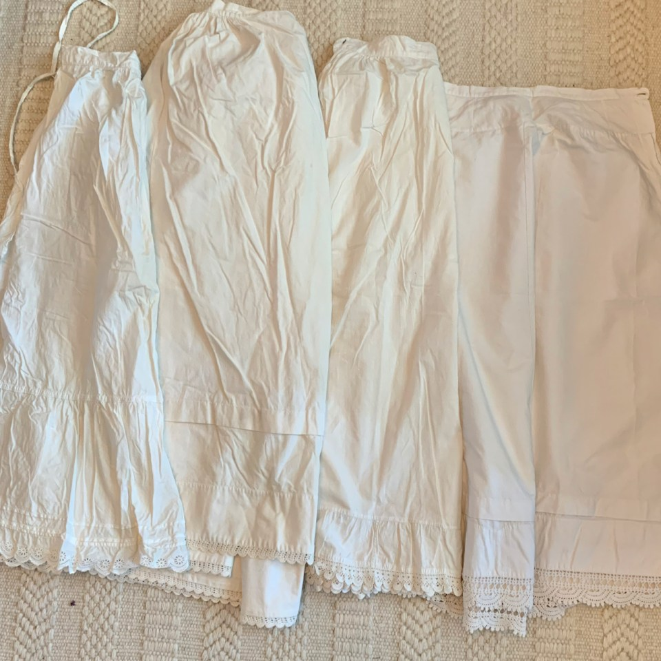Antique underwear: Four antique petticoats.