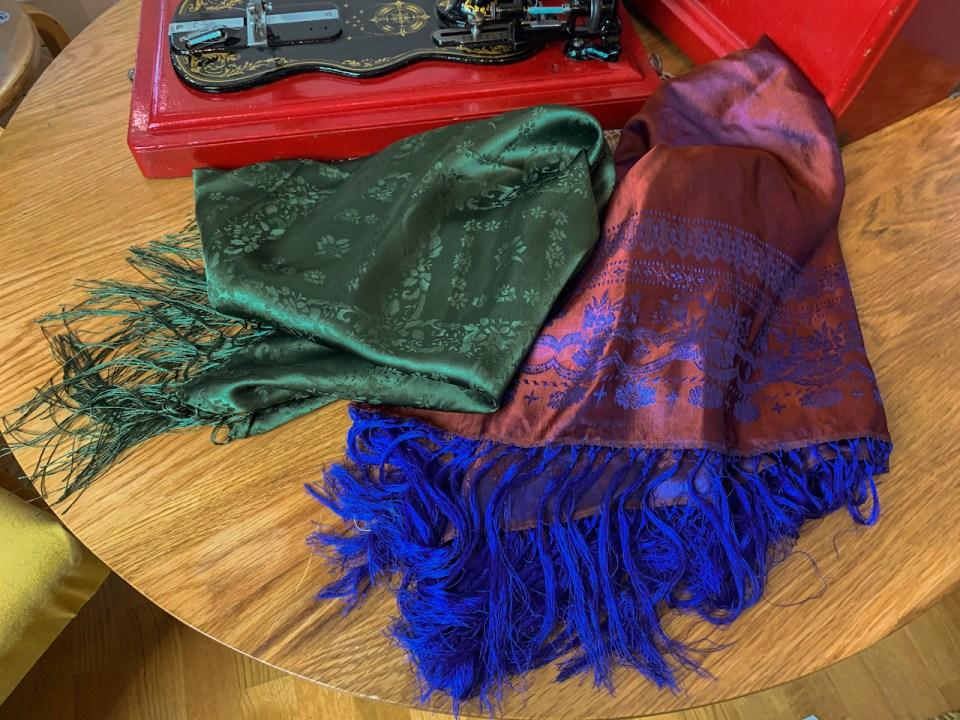Silk scarves.