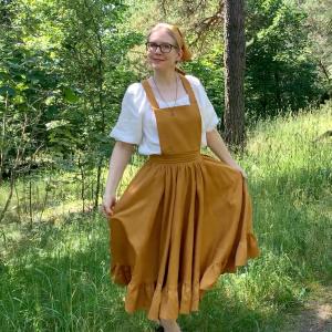 My cottagecore pinafore dress.