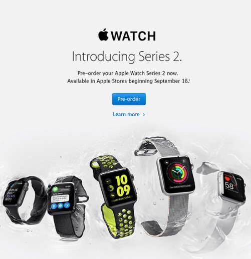 iWatch series 2 production announcement