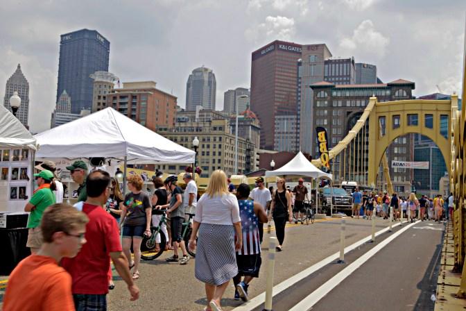 Pittsburgh Roberto Clemente Bridge Party