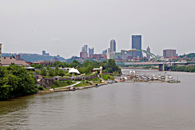 Pittsburgh Skyline from Hot Metal Bridge