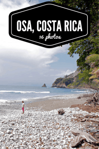 Traveling around the Osa Peninsula, Costa Rica