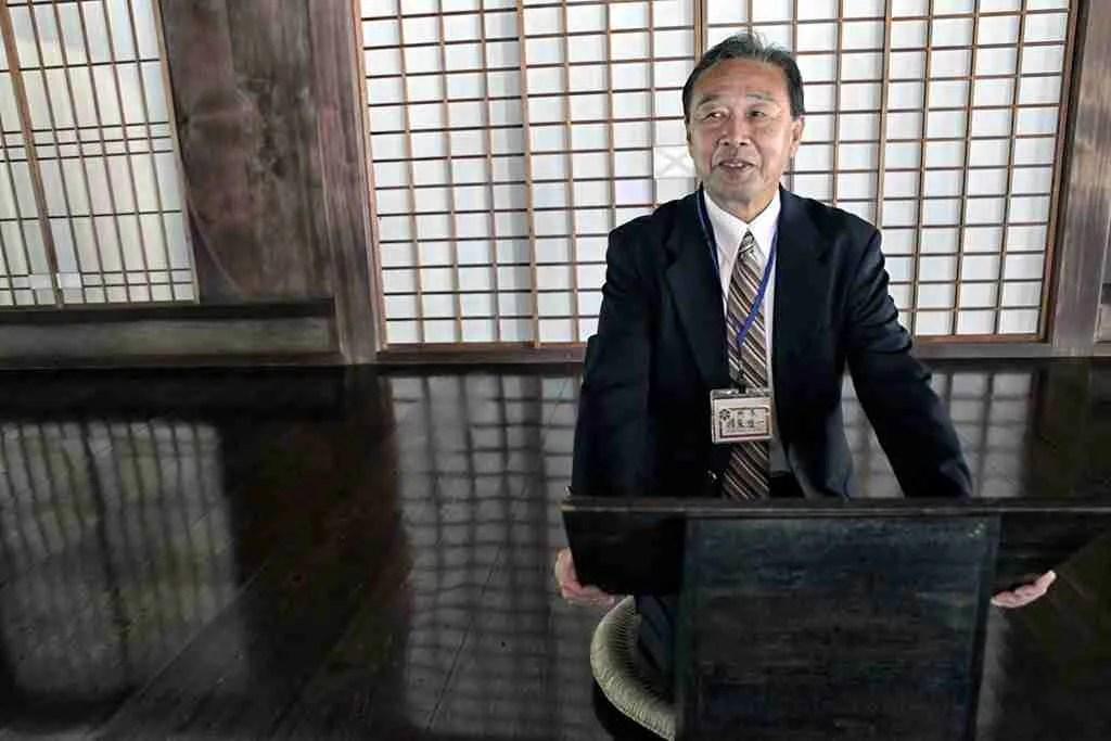 Sensei at the Old Shizutani School Okayama Japan