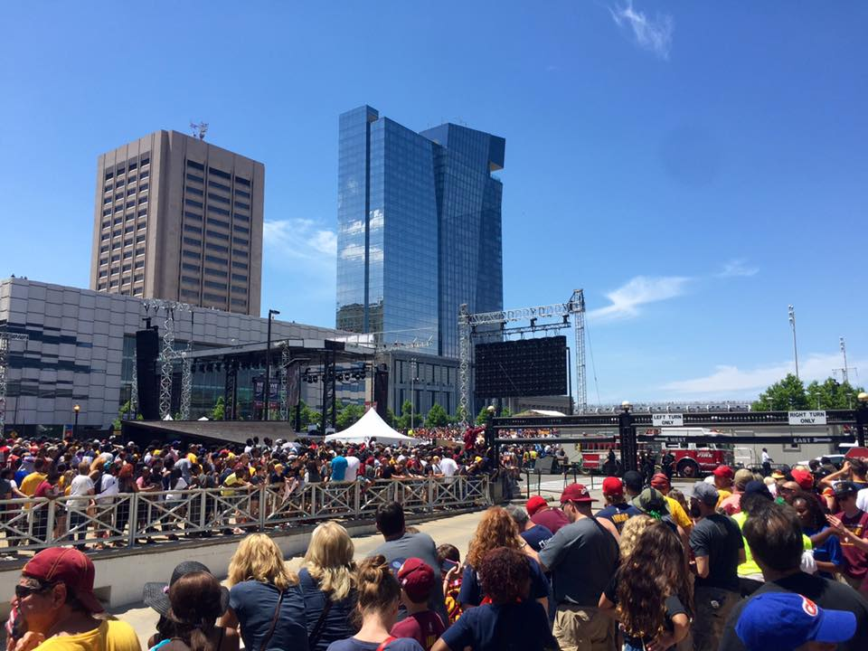 The Cleveland Mall at the Cleveland Cavaliers championship parade